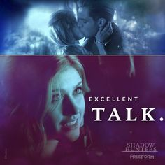 """S1 Ep9 """"Rise Up"""" - Excellent talk. #Clace #Shadowhunters"""