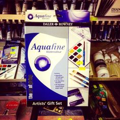 We still have some of these great watercolour starter sets on offer - £15.99 for a set of paints, brushes and a watercolour pad - everything you need to get going #shoplocal #watercolour #giftideas #artist