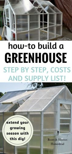 I have desired my own greenhouse to extend our growing season. And I've dreamed of just how to build a greenhouse on our homestead for quite awhile. Probably for as long as we've been on this homestead journey! #greenhousediy