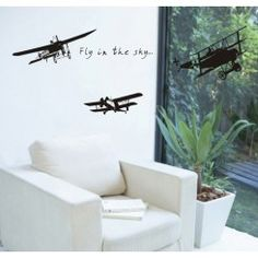 Airplane - Fly in the Sky - Wall Decals Stickers