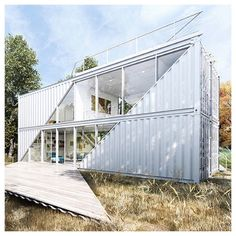 Looking for how to renovate shipping container into house, Shop, Garage or Workshop? Here are extensive shipping Container Houses Ideas for you! shipping container homes Container Van, Container Office, Storage Container Homes, Cargo Container, Shipping Container Conversions, Shipping Container Buildings, Shipping Container Home Designs, Shipping Containers, Container Architecture