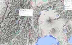 日本の典型地形情報をGoogleの地形図の上に重ねてみた。