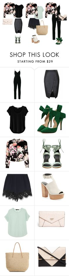 """flower bomber"" by ulusia-1 ❤ liked on Polyvore featuring Zimmermann, Cosabella, Marciano, TIBI, Chloé, Rebecca Minkoff, 360 Sweater, GUESS, Target and Lipsy"