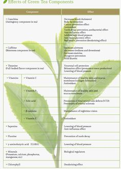 Green tea components & their benefits