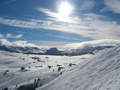 best skiing in Canada...FACT! Sunshine Village, Banff. This is where I cut my teeth skiing