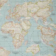 Map fabric fabrics i love pinterest map fabric and fabrics john lewis world map pvc cloth gumiabroncs Choice Image