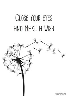 Close your #eyes and make a #wish - Buy it at www.vanmariel.nl - Card € 1,25 Poster € 3,95