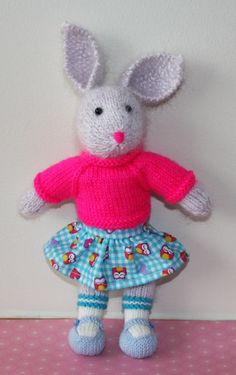 Rabbit Hand knitted by Nodnook on Etsy