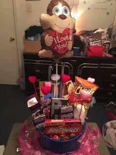 Valentines Basket I made for my dad.