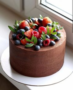 Creative Cake Decorating, Cake Decorating Videos, Cake Cookies, Cupcake Cakes, Cupcakes, Sweet Desserts, Delicious Desserts, Cake Decorated With Fruit, Cake Recipes