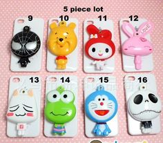 5 piece lot Cartoon figures compact mirror great for diy bling deco Compact Mirror, Mirrors, Craft Supplies, Bling, Cartoon, Deco, Crafts, Jewel, Manualidades