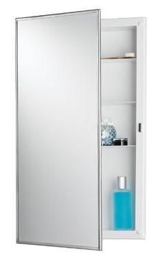 Jensen 781045 Builder Series Framed Medicine Cabinet, 16-Inch By 26-Inch By 3-3/4-Inch, 2015 Amazon Top Rated Medicine Cabinets #HomeImprovement