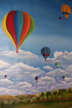 Hot Air balloon painting by Fresh Coat of Paint!