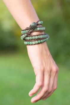 A personal favorite from my Etsy shop https://www.etsy.com/listing/202838914/essential-oils-diffuser-wrap-bracelet