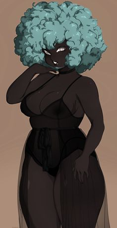 Sexy Black Art, Black Love Art, Black Girl Art, Character Art, Character Design, Arte Black, Black Anime Characters, Black Art Pictures, Black Artwork