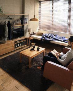 センターテーブル Gracia 幅90cmタイプ|即日出荷対応|gracia/ブラウン/リトルプレス/即日出荷可能|家具・インテリア通販 Re:CENO(リセノ)本店 Japanese Interior Design, Home Interior Design, Interior Styling, Small Room Layouts, Home Bedroom, Bedroom Decor, Men's Bedroom Design, Bedroom Frames, Living Room Blinds