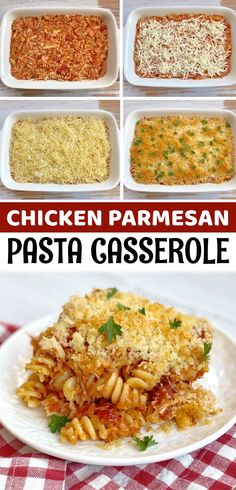 Chicken Parmesan Casserole With Pasta (Quick & Easy Dinner Recipe!)