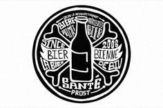 BierBienne Beer Logotype, Logo pour la bière BierBienne