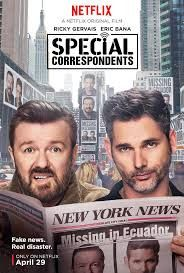 Netflix released the trailer and poster for Special Correspondents starring Ricky Gervais, Eric Bana, Vera Farmiga, Benjamin Bratt, and America Ferrera. All Movies, Latest Movies, Movies To Watch, Movies Online, Movie Tv, Tv Watch, Movies 2019, 2016 Movies, Film Watch