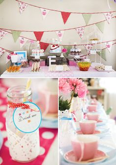 Vintage Alice in Wonderland Tea Party // Hostess with the Mostess® Party Deco, Alice In Wonderland Tea Party, Mad Hatter Tea, Childrens Party, Holidays And Events, First Birthdays, Party Time, Disney, Birthday Parties