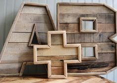 // Original Reclaimed Wood Marquee Letters