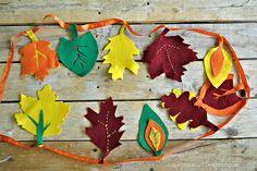 imagines de otoño | Guirnalda de fieltro para hacer con niños en otoño - Manualidades de ...