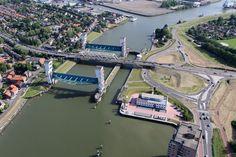 Luchtfoto, Algerabrug, Capelle aan den IJssel, Krimpen aan den IJssel