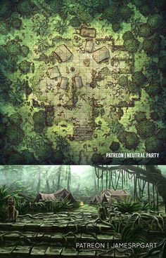 Jungle Camp- a Collaboration with James& RPG Art : battl.- Jungle Camp- a Collaboration with James& RPG Art : battlemaps Jungle Camp- a Collaboration with James& RPG Art : battlemaps - Fantasy City Map, Fantasy Places, Fantasy World, Dungeons And Dragons Homebrew, D&d Dungeons And Dragons, Dnd World Map, Okinawa Japan, Village Map, Pen & Paper