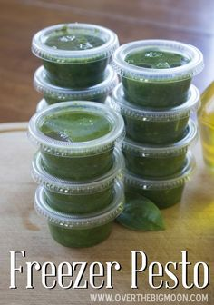 How to grow an abundant crop of basil to make delicious Pesto! Over The Big Moon Growing Basil to make Fresh Pesto! - Over The Big Moon How to make fresh pesto and then freeze it to enjoy later! Freeze pesto to use all winter long I like this idea of usin Basil Pesto Recipes, Herb Recipes, Canning Recipes, Healthy Recipes, Homemade Pesto Recipes, Recipes With Fresh Basil, Freezing Pesto, Freezer Meals, Freezer Cooking