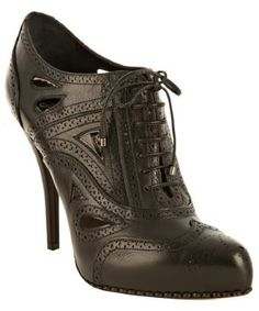 Christian Dior black leather wingtip cutout oxford pumps | BLUEFLY up to 70% off designer brands at bluefly.com