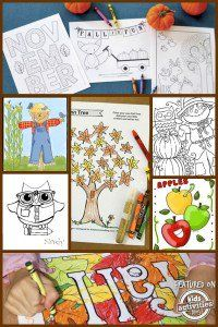 Fall Printable Coloring Pages