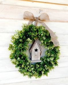 Most up-to-date Snap Shots Boxwood Wreath fireplace Popular Our papers boxwood wreath is the perfect project to create with your particular decreasing machine. Christmas Coffee, Country Christmas, Christmas Items, Christmas Projects, Spring Door, Fall Door, Artificial Boxwood Wreath, Outdoor Wreaths, Outdoor Decor