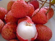 Lychee fruit has a pleasant smell and sweet taste resembling a combination of strawberries, watermelon, and grapes.  Litchi has various health benefits:  Litchi is low in calories and is rich in dietary fibre.  Lychee fruit is a good source of Vitamin C.  Litchi is rich in calcium, phosphorus, folate, copper and potassium.
