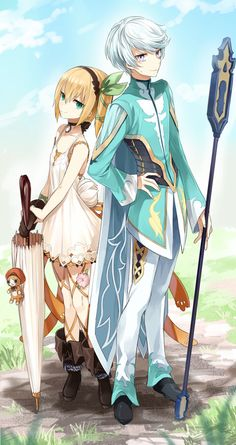 Tales of Zestiria - Edna and Mikleo