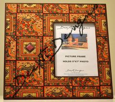 Madhubani photos frame hand painted 12