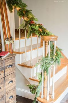 Gather holiday inspiration from this warm & cozy rustic farmhouse Christmas Home Tour. There are so many classic decor ideas!