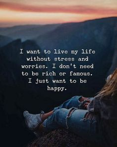 In I want to live my life without stress and worries.best quotes of the day True Quotes, Words Quotes, Motivational Quotes, Inspirational Quotes, Sayings, Quotes Quotes, The Words, Quotes About New Year, Year Quotes