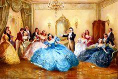 Великосветские развлечения и балы в живописи художников 19-20 ...