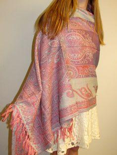 Beautiful Pink Pashmina Shawl Ladies Elegance