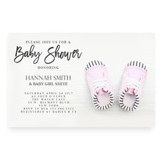 40 best cheap baby shower invitation images on pinterest beautiful pink baby shoes baby shower invitationpink baby baby shower invitation typography filmwisefo