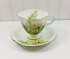 Clarence Bone China Tea Cup and Saucer Vintage by naturegirl22