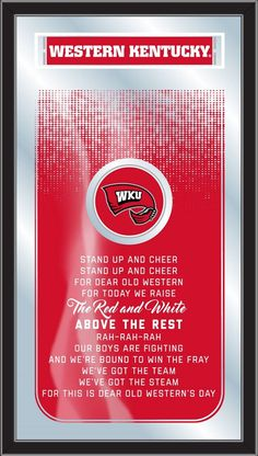 Fight Song Logo Mirror - Western Kentucky University Hilltoppers