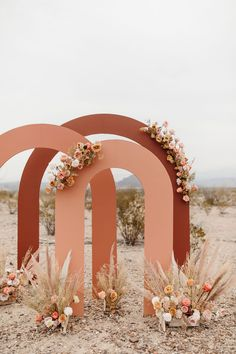 Modern desert wedding inspiration at The Willow House in West Texas. Sculptural terracotta arches for a unique ceremony backdrop. Design and styling by Mae&Co Creative // Wedding Backdrop Design, Ceremony Backdrop, Wedding Decorations, Diy Wedding, Dream Wedding, Perfect Wedding, Deco Boheme, Jolie Photo, Backdrops For Parties