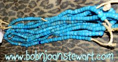 Turquoise Blue African trade beads BEAUTIFUL by PetiesPorch on Etsy