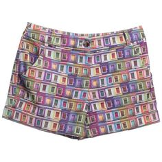 Pre-owned Shorts with pattern (340 BRL) ❤ liked on Polyvore featuring black and ted baker