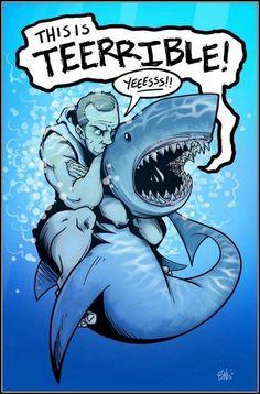 Be the shark.