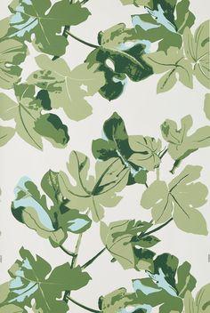 Fig Leaf - Original on White – Peter Dunham Textiles