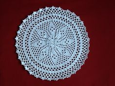 Free Crochet Flower Doily part 4