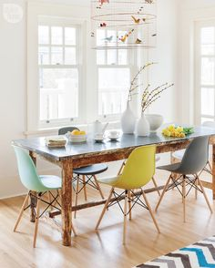 Unbelievable Tips: Dining Furniture Makeover Fabrics rustic dining furniture design.Outdoor Dining Furniture How To Build. Dining Furniture, Dining Chairs, Eames Chairs, Eames Dining, Room Chairs, Dining Table, Eames Style Dining Chair, Dining Area, Office Chairs