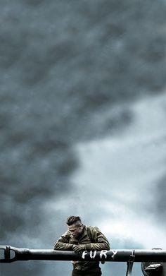 Brad Pitt as Don 'Wardaddy' Collier in Fury. Brad Pitt, Fury 2014, War Film, Alternative Movie Posters, Movie Poster Art, Movie Wallpapers, Military Art, Plein Air, Great Movies